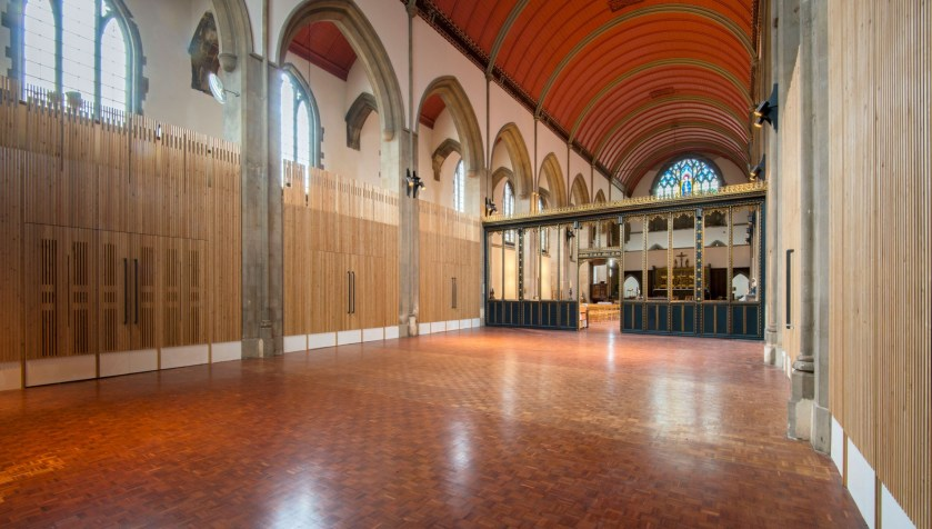 St Mary-of-Eton church (1890), London E9, interior, looking north-east, c.2016