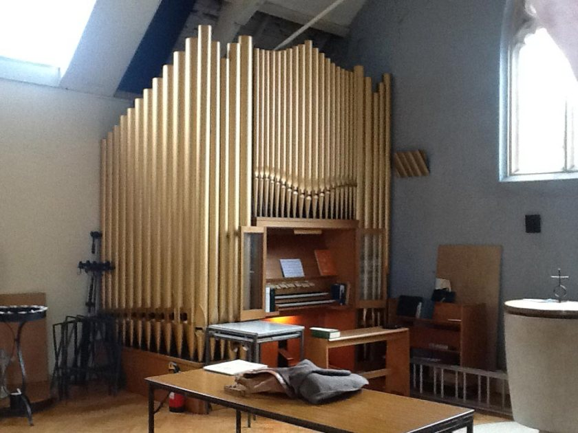 St John the Divine, Earlsfield, pipe organ (1976) by Osmond of Taunton, c.2016