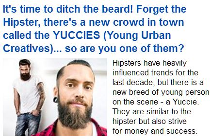Hipsters or yuccies?
