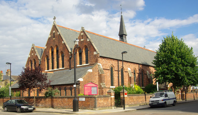 The west end of the church of St Thomas the Apostle, Finsbury Park, London N4 Built 1888-89 to the designs of church architect Ewan Christian (1814-1895) Creative Commons Licence [Some Rights Reserved] © Copyright Julian Osley and licensed for reuse under this Creative Commons Licence.