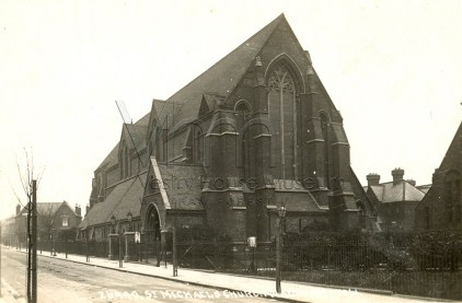 St Michael and All Angels, Walthamstow, London E17, c,1907 (J.M. Bignell, 1885). http://boroughphotos.org/walthamforest/
