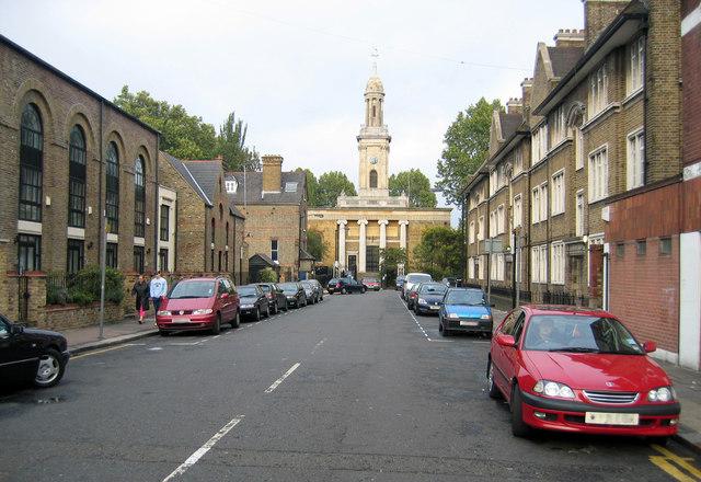 St Peter's church (1825), Liverpool Grove Walworth SE17, c.2015
