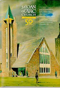 St Joan of Arc church in Highbury, London (n.d.) from a parsih publication of 2013