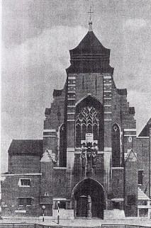 The church of St Augustine of Canterbury, the completed west front c.1975. (Source: Sanders, 1975).