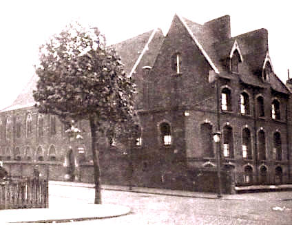 The first church of Our Lady & St Joseph and school, London N1, late c19. Source: Taking Stock