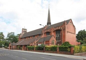 The seast end (1903) of St Aldhelm's church, London N18, by W. D. Caröe.