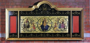 St Barnabas Walthamstow (1903) London E17, Lady Chapel altar reredos (1923) by Christopher Webb, from St John's church Red Lion Square, London (demolished). . Source: Litten, 2003