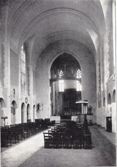 St Benet and All Saints, Kentish Town, London. Interior, c.1935, facing east. [Source: 'In jubilaeo' (London: 1935)]