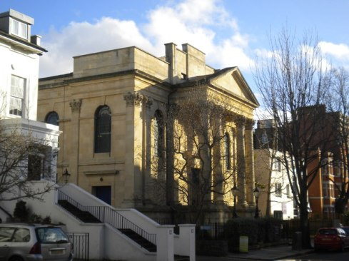 The Kensington Chapel, Allen Street, London W8 in 2012. [Source: geograph.org.uk]
