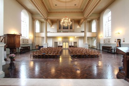 The nave (2016) looking west, St Clement's Church, King Square, London EC1 (UK)