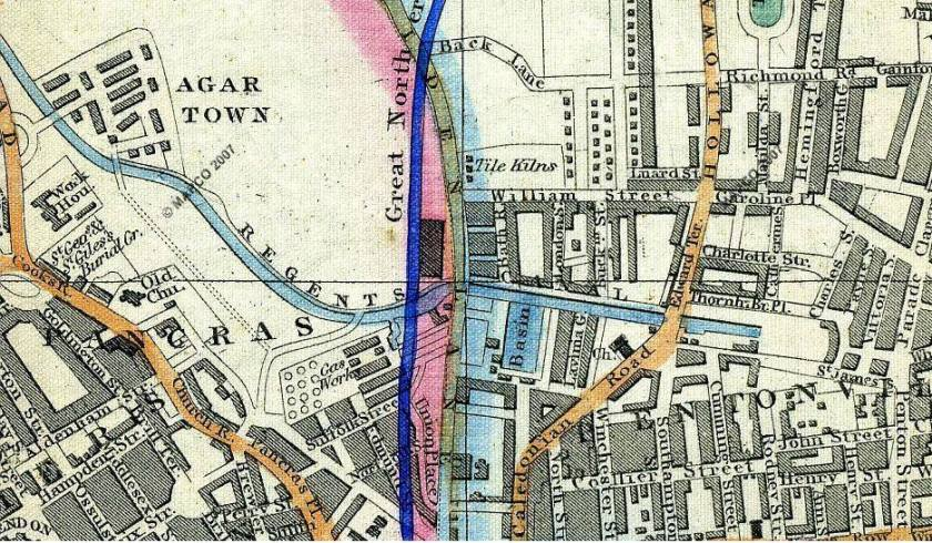 1851 map of agar town