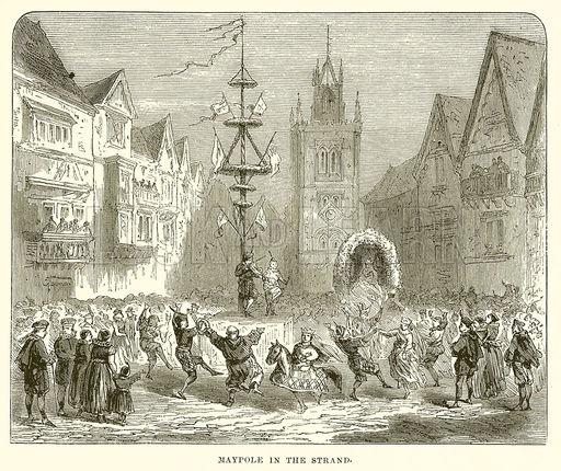 The Strand maypole, a nineteenth-century re-imagining.
