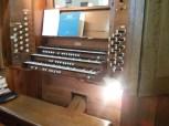 St Margaret's, Barking, organ console (1913?)