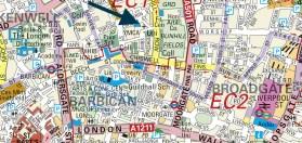 The location of St Joseph's Catholic Church, Lamb's Buildings, London EC1 c.2000