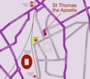 St Thomas the Apostle parish church, London N4: Location. the Church is on the corner of St Thomas Road & Monsell Road, London N4 2QP a few minutes walk from Arsenal tube station.