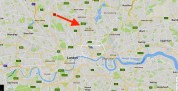 The geographical context of St Thomas the Apostle parish church in London N4.