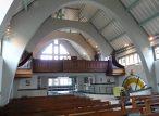 The choir gallery in the church of St Joan of arc, Highbury, London, 2017