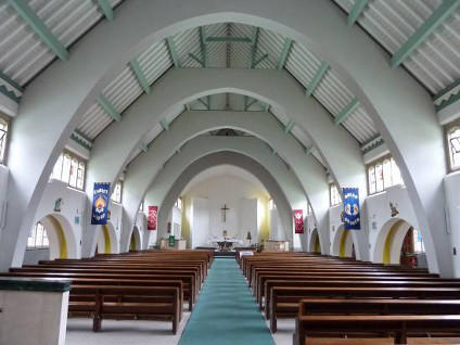 The nave in the church of St Joan of Arc (c.2000), Highbury, London