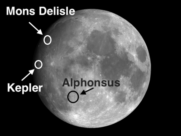 "Spot ""the Skull"" and ""Gash"" on the Moon 