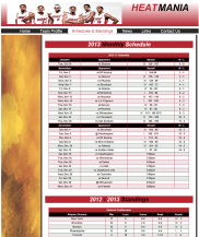 Standings Page