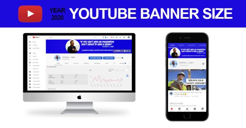Panduan dan Size Template Banner YouTube tahun 2020