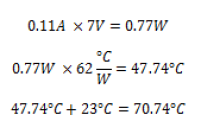 LDO Temperture Calculation