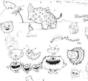 Island Creatures_doodles_Andrew Tong Art