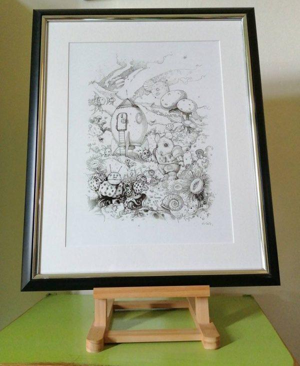 Drawing of Basildon Astro Mouse on display