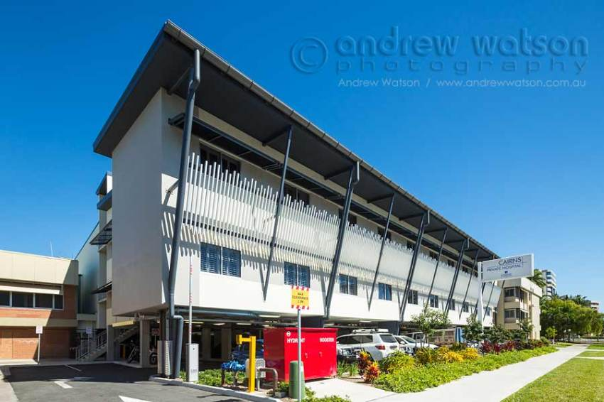 Image of facade of new Cairns private hospital building extension