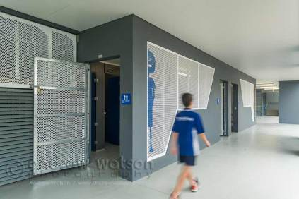 Image of screens in architectural design of school