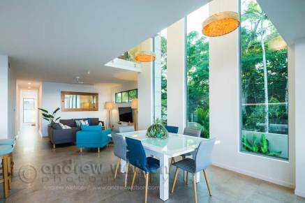 Interior image of architectural beachfront home in Cairns