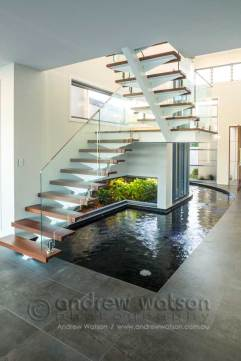 Interior image of award winning waterfront home