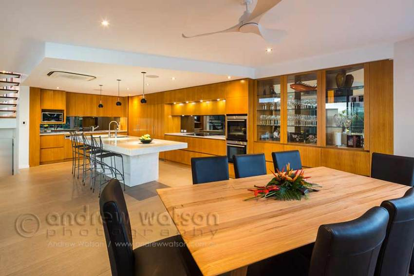 Image of dining room and kitchen in residential home