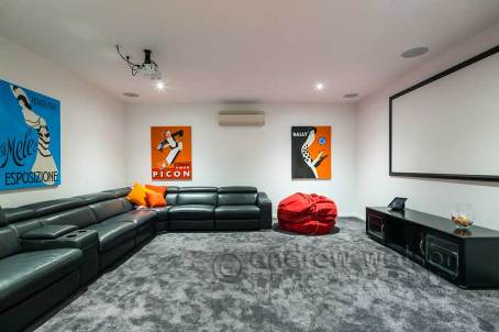 Image of media room in residential home