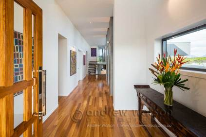 Residential entry hallway for Bluewater Estate home
