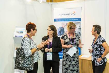 Image of exhibitor and delegates at CNSA Annual Congress trade exhibition