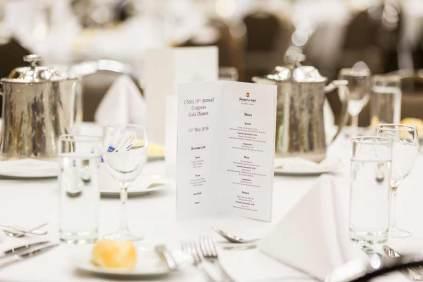 Image of table setup at CNSA Annual Congress Gala Dinner
