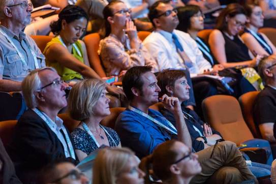 Image of delegates attending plenary session at ANZSGM 2016 in Cairns Convention Centre