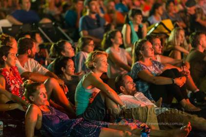 Image of the crowds enjoying the Yarrabah Band Festival