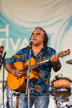 Image of David Hudson performing at Yarrabah Band Festival
