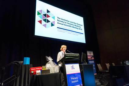 Image of conference speaker at ANZSGM 2016 in Cairns Convention Centre