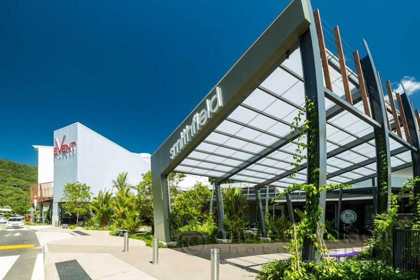 Image of new Smithfield Shopping Centre entrance