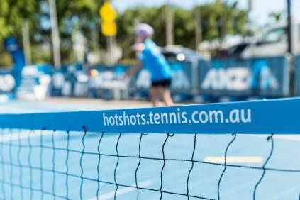 Image of pop-up tennis court in Cairns