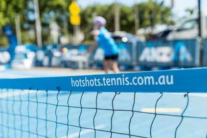 Image of pop-up tennis court in Cairns
