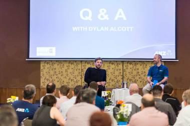 Image of Dylan Alcott speaking at Cairns breakfast function