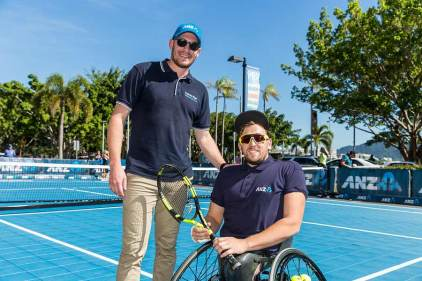 Image of Dylan Alcott on court at Cairns Charity Challenge