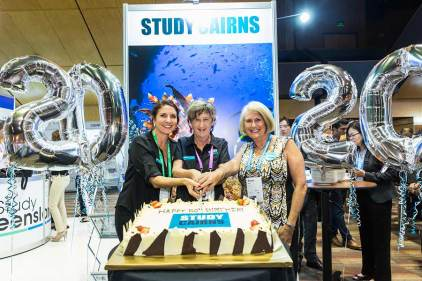 Image of Study Cairns celebrations at ANZA Workshop
