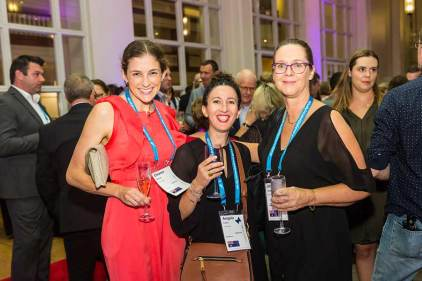 Image of delegates at dinner reception during ANZA 2017
