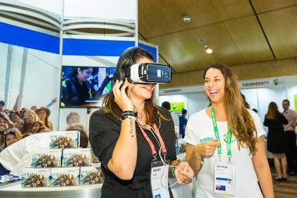 Image of exhibitor at the ANZA workshop in Cairns