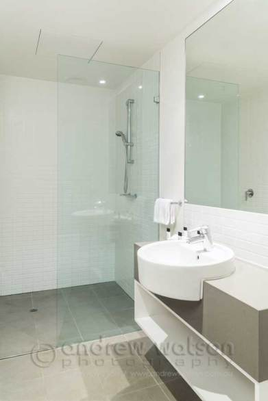Image of one bedroom apartment bathroo at Cairns Harbour Lights